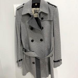 Burberry car coat size 8 grey/ black cashmere